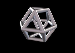 016 mathart - archimedean solids - cuboctahedron 01 - 10 cm science mathart archimedean solids cuboctahedron solid science math
