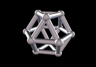 017 mathart - archimedean solids - cuboctahedron 02 - 10 cm science mathart archimedean solid cuboctahedron science math