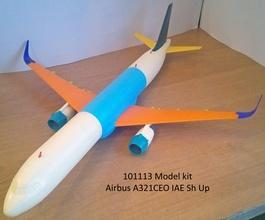 101113 airbus a321ceo iae sh airplane aircraft airbus a321 a320 jet boeing hobby diy hobby diy