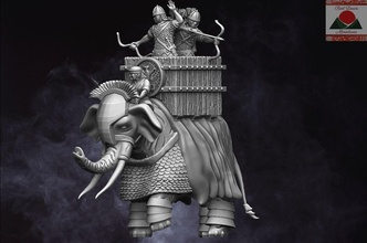 28mm roman auxiliary war elephant roman romans rome ancient ancients miniatures figurines war elephant 3d printing wargaming wargames games toys games toys