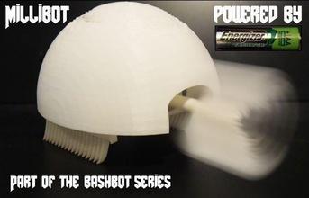 Impreso en 3d millibots juegos-juguetes bashbots bashbot bot los bots 3dprintit los robots aa aabattery dcmotor juegos los juguetes juegos de juguetes