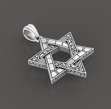 3d impressão modelo Estrela david joalheria ouro pingente prata imprimível pingentes Estrela david religião judaico judaísmo sinagoga