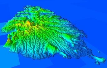3d terrain model saint lucia island hobby-diy terrain saintluciia saint lucia island volcanic volcano caribbean ocean hobby diy hobby diy other