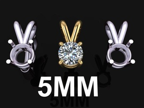 4 prong solitaire split bell pendant 5mm jewelry pendant solitaire 4 prong chain necklace diamond diamond pendant 5mm solitaire pendant dainty women female fashion trend accessory 4 prong solitaire mix size style pendants