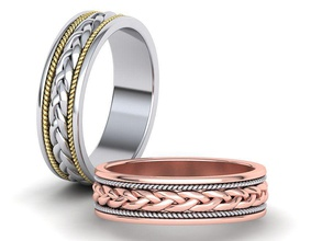 6mm woven band ring wedding band 3dmodel jewelry woven ring woven band wedding band jewelry bands 6mm woven woven rings usa canada mans ring ringforher wedding aniversary printable italy europe jewel gold ring 3dprinting rings