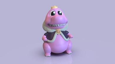 bezaubernd Zilla 3d drucken Modell niedlich Spielzeug Godzilla Kunstspielzeug einzigartig druckbar Charakter Skulpturen Modell bezaubernd Rosa König Spiele Spielzeuge Spiele Spielzeuge
