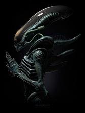 alieno xenomorfo 3d modello pronto stampa alieno creatura xenomorfo bigchap baraccone film Volpe mostro sci fi carattere futuro spazio futuristico arte sculture