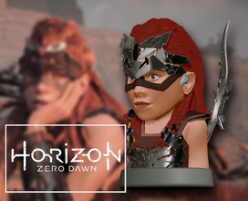 aloy horizon zero dawn aloy horizon zero dawn horizonzerodawn game ps4 art sculpture girl warrior games toys games toys