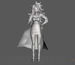 android 21 human dragon ball 3d model android 21 android21 dbz dragonball dragon ball super games toys games toys