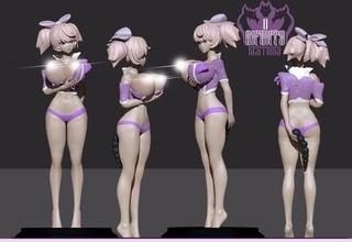 anime girl 2 sexy girl anime manga nsfw female beautiful breast 3dprint lady nipple woman character cartoon games toys games toys