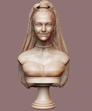 ariana grande sculpture ready 3d print art ariana grande singer female voice music 3d printing girl women american pop art sculptures