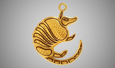 armadillo necklace jewelry armadillo outline animals line art animal wildlife armor mammals shell armour mammal tails legs basic claw jewelry gold retro necklaces