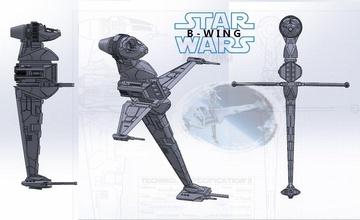 ala b estrella guerras modelo estrella guerras guerra Galaxias ala naves espaciales Buque guerra pasatiempo bricolaje diy pasatiempo bricolaje diy