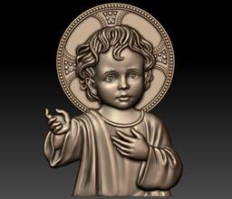bébé Jésus cnc cœur soulagement religieux catholique pendentif bijoux sculpture bois cathédrale fraisage symbole Christian décoration architectural art sculptures Jésus bébé bébé st