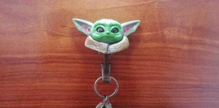 Baby Yoda Schlüssel Halter Unterstützung Dekoration Kunst Yoda Jedi groru Haus Möbel
