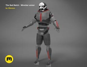 bad batch wrecker armor bad batch wrecker sw star wars armor helmet armored comando 99 trooper force galactic tbb wearable fullsize cosplay games toys games toys