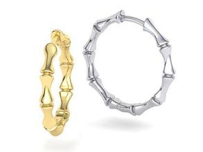 bamboo hoop earrings 3dmodel hoop earrings bamboo earring bamboo hoop earring usa canada jewelry earrings 3dprinting europe uk asia gold earrings 3d earring jewel silver wax hoop