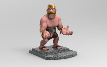 barbarian smartphone holder games-toys 3dprint smartfone holder barbarian toys gift print klashofclans gadgets office games other games toys human