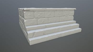 base 1 impresión estatua base columna pared arco escalera ruina tumba arquitectura arco malla escultura juegos juguetes juegos juguetes