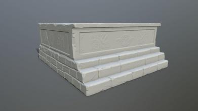 base 2 impresión estatua base columna pared arco escalera ruina tumba arquitectura escultura arco malla juegos juguetes juegos juguetes juego accesorios juego accesorios