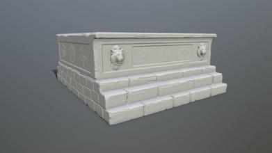 base 3 impresión estatua base columna pared arco escalera ruina tumba escultura arquitectura tumba malla arco juegos juguetes juegos juguetes juego accesorios juego accesorios