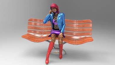 bench wind woman girl bench wind chair seat leisure furniture hobby diy hobby diy