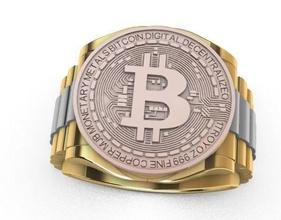 bitcoin anillo anillo oro joyería joya anillo imprimible bitcoin hombre hombres anillos