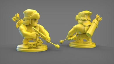 bo bw bo arco pelearse estrellas juego personaje Arte esculturas