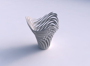 bowl twisted muscle structure twisted tapered wavy house bowl  twisted muscle structure twisted  tapered wavy house decor