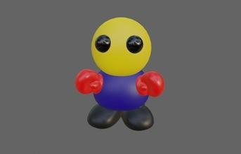 Boxer miniatura miniatura Boxer juguete coleccionable lindo preescolar combatiente impresión chaveiro hombre niño juego sonreír dibujos animados boxeador plastico guante grasa brinquedo juegos juguetes juegos juguetes