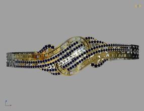 pulseira 2 jóias pulseira Projeto estilo arte gema prata joalheria pulseiras