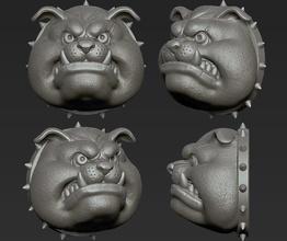 Boğa köpek köpek baş bulldog Kurt köpek yavrusu boksör kurt adam Sanat heykeller