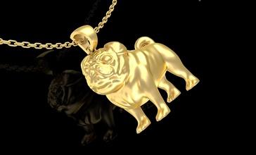 bulldog kolye takı altın 3d Sanat şekil bulldog kolye takı çanak çömlek heykel heykel Yazdır yazdırılabilir altın gümüş mücevher mücevher elmas mücevher platin kolye köpek