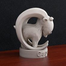 capricorn zodiac sign capricorn zodiac sign animal goat horn astrological sign horoscope art sculptures