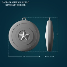 captain america shield keychain holder cap captain america captainamerica marvel shield superhero hero lowpoly highpoly printable printready comic cosplay toy games toys games toys
