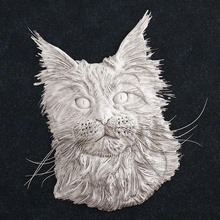 gato cabeça gato cabeça gatinha animal Puma bichano gatinho gato cão joalheria ouro anel pingente arte esculturas