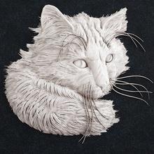 gato cabeça 2 gato cabeça gatinha Puma leão bichano cão animal animais joalheria ouro anel pingente arte esculturas