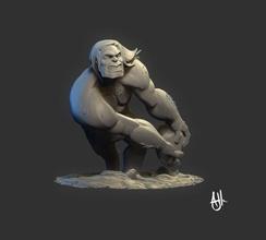 caveman sculpture statue art figure man sculptures