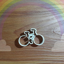 cc146 bike outline house cookie cutter bake cake dessert pastry sweets dough sugar gumpaste house kitchen dining kitchen dining