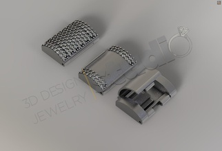 chain lock clasp cuban link size 2 3d model clasp clasp jewel clasp jewellery clasp design clasp chain jewel jewellery jewelry printable clasp print buckle gem silver