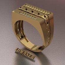 cadena anillo anillo cadena Boda lujo Arte joyería joya plata oro plano platino mujer mujer hombres negocio amor impresión 3d rinoceronte anillos