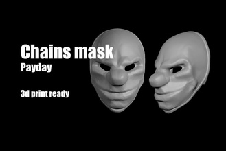 chains payday mask helmet payday chains dallas wolf hoxton mask face facemask print 3dprint lowpoly marvel spierman superman ironman game games gun thief helmet toys games toys other