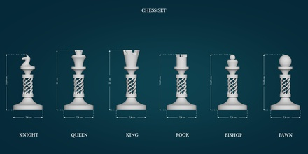 chess figures games-toys chess game printable print knight horse king queen strategy rook logic bishop tablegame lowpoly highpoly games toys games toys accessories game accessories