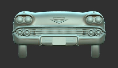 chevrolet impala 1958 stl car chevrolet impala cevy chevrolet impala 1958 vehicle auto 1958 wall decor bookshelf house decor