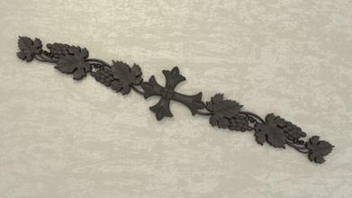 Christian ornement décoration abstrait floral fleur meubles traverser Christian grain raisin feuilles ornement art sculptures