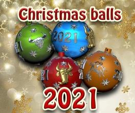 christmas balls 2021 christmas balls 2021 newyear newyear2021 holiday toys bull 3dprint santa claus  games games toys