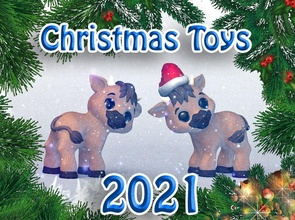 christmas toys 2021 christmas winter sculpture toy art statue figure bull 2021 newyear newyear2021 games toys games toys