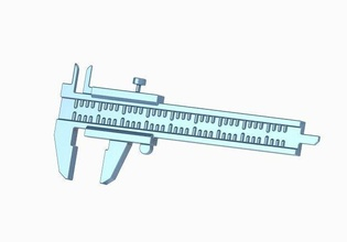 classic vernier caliper toy birthday gift classic decor physics scale science measure student astronomy child education instrument toon technology prototype college length box cube astronomy physics
