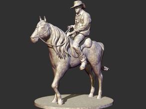 cowboy sculpture art cowboy west western horse man pistol revolver wild outlaw texa hat art sculptures