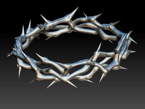 coroa espinhos Deus Jesus 3d impressão Jesus Cruz coroa espinhos religioso católico Igreja pingente medalhão bas alívio retrato santo Deus jóias joalheria arte esculturas pingentes